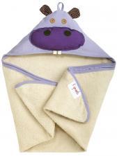 3sprouts бегемот полотенца с капюшоном для детей сложен