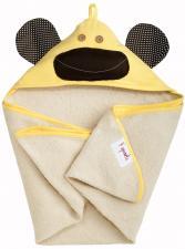 3sprouts желтая обезьяна полотенца с капюшоном для детей сложен