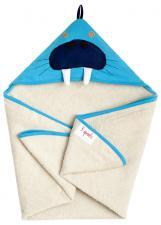 3sprouts морж полотенца с капюшоном для детей сложен