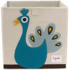 Коробка для игрушек 3sprouts павлин