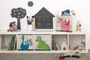 3sprouts павлин коробки для игрушек на полках