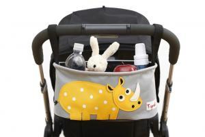 3sprouts носорог полная сумка-органайзер на коляске
