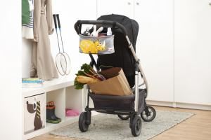 3sprouts сумка-органайзер носорог на коляске в квартире