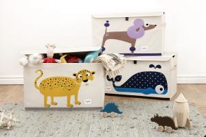 3sprouts леопард три cундука для игрушек