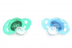 Пастельно-синяя пустышка для малыша
