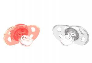 Пастельно-персиковая пустышка для малыша