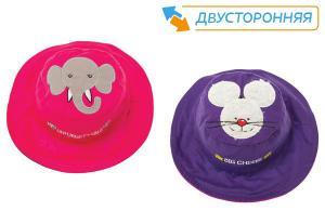 Двусторонняя панама flapjackkids слон и мышка