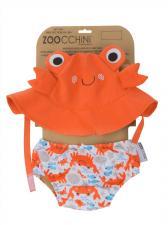 Купальник zoocchini краб детям с 3 до 6 месяцев