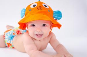 Оранжевая панамка zoocchini рыбка для детей