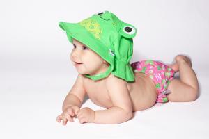 Зелёная панамка zoocchini лягушка для детей