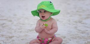солнцезащитная панамка zoocchini лягушка