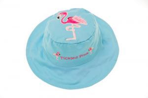 Детская и яркая панамка дельфин и фламинго