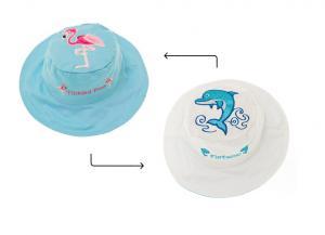 панамка flapjackkids дельфин и фламинго на ремешке c велкро