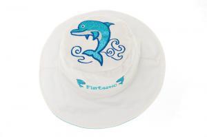 Солнцезащитная панамка для малыша дельфин и фламинго