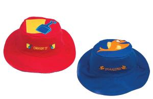 Синяя и красная солнцезащитная панамка для малыша