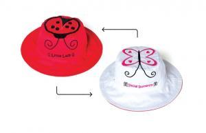 Солнцезащитная панамка для малыша божья коровка и бабочка