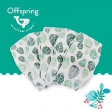 Эко-подгузники offspring листик без ароматизаторов и пропитки, вес 6-10 кг.