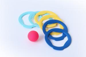 Детский набор для пляжа quut ringo 6 колец и мячик