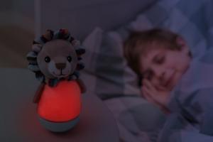 Детский ночник zazu лев бежевого цвета