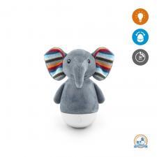 Серый ночник-неваляшка zazu в виде слона с ушами
