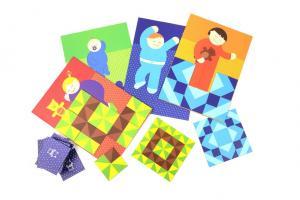 Весёлая игра лото-паззл shusha лоскутное одеяло