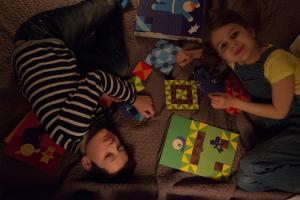 Игра лото-паззл шуша лоскутное одеяло детям от 3 лет