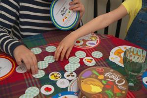 Оригинальная игра shusha лото «Обед» состоит из 14 тарелок и 70 продуктов