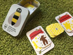 Настольная карточная игра пчёлы и мёд для детей от 3 лет