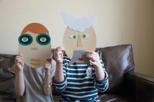 Картонная игра шуша составь портрет для детей от 3 лет