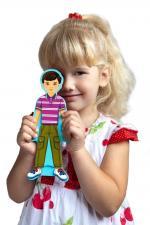 Развивающая игрушка mr. bigzy модный гардеробчик мальчика
