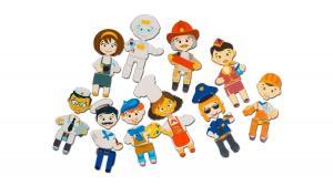 Детская магнитная игра mr. bigzy профессии для детей от 3 лет