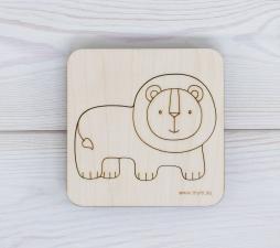 Игрушка-пазл МУМ вкладыш лев