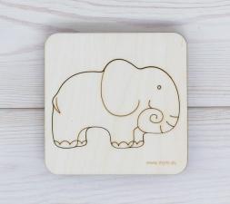 Игрушка-пазл мум вкладыш слон