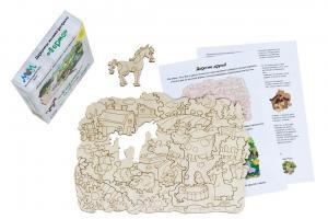 Деревянная мозаика МУМ ферма для раскрашивания