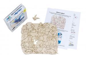 Деревянная мозаика МУМ Арктика для раскрашивания