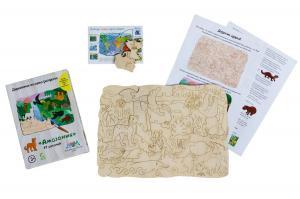 Деревянная мозаика МУМ Амазония для раскрашивания