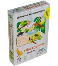 Деревянная мозаика МУМ Австралия с животными