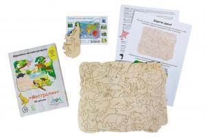 Деревянная мозаика МУМ Австралия для раскрашивания
