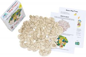 Деревянная мозаика МУМ Жар-птица для раскрашивания