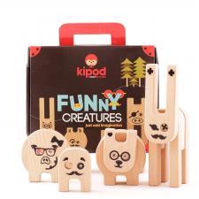 Деревянный конструктор kipod веселый зверинец