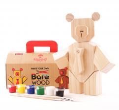 Активный творческий набор kipod медведь с кистями для рисования