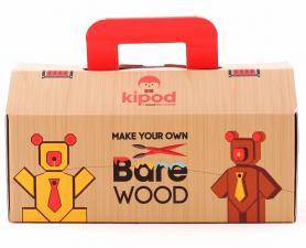 Деревянный медведь kipod с красками и кисточками