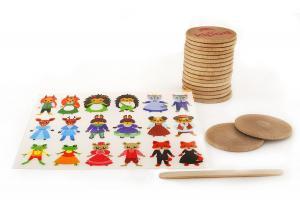 Творческий набор kipod cделай пару с наклейками