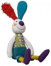 Мягкая игрушка кролик джеф с погремушкой внутри