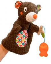 Игрушка на руку мишка на рыбалке ebulobo