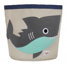 Корзина для игрушек 3sprouts серая акула