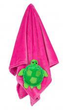 Розовое одеяло с игрушкой черепашка