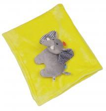 Одеяло zoocchini с игрушкой слон