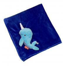 Одеяло zoocchini с игрушкой кит