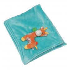 Одеяло с игрушкой zoocchini жираф